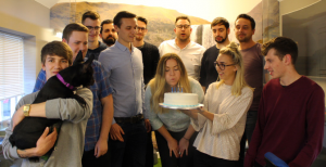 The team celebrating The Lead Lab's 4th birthday