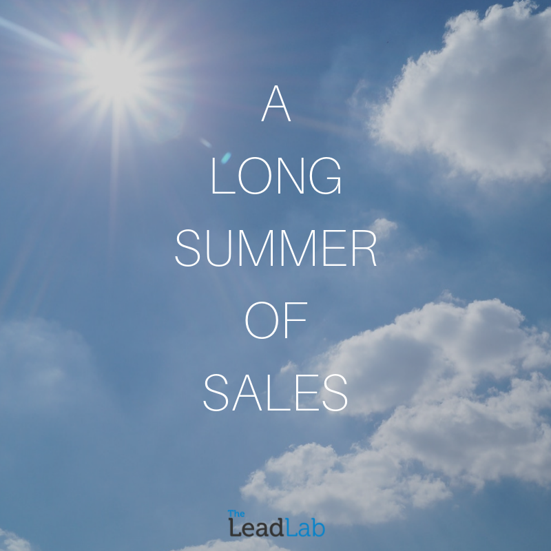 A LON SUMMER OF SALES